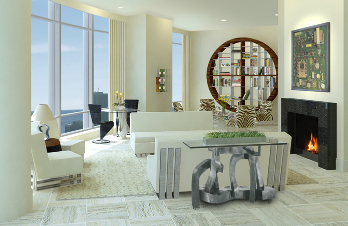 Trump Tower Living Room Interior Design