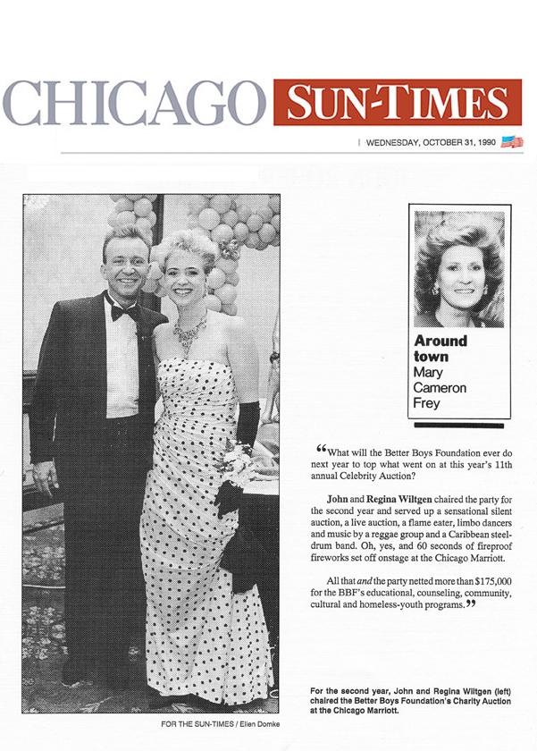 October 31, 1990 - Around Town Chicago Sun Times