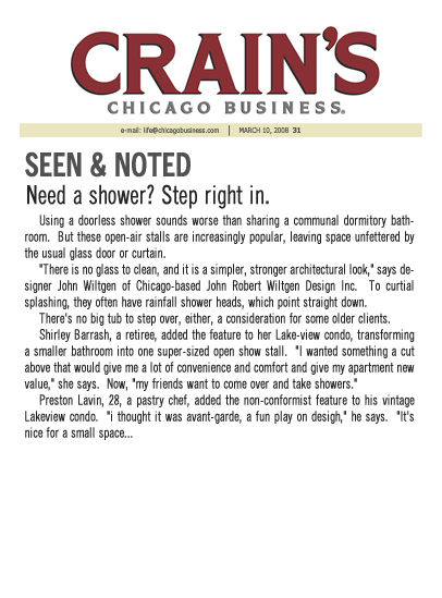 March 10, 2008 - Seen & Noted Crain's Chicago Business