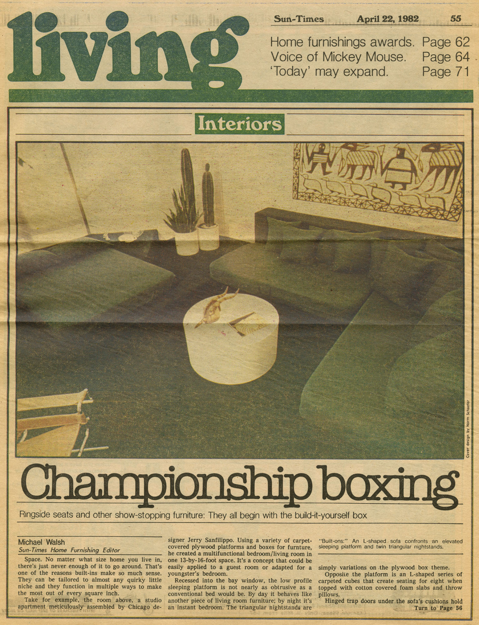 April22,1982 Sun-Times- Championship Boxing