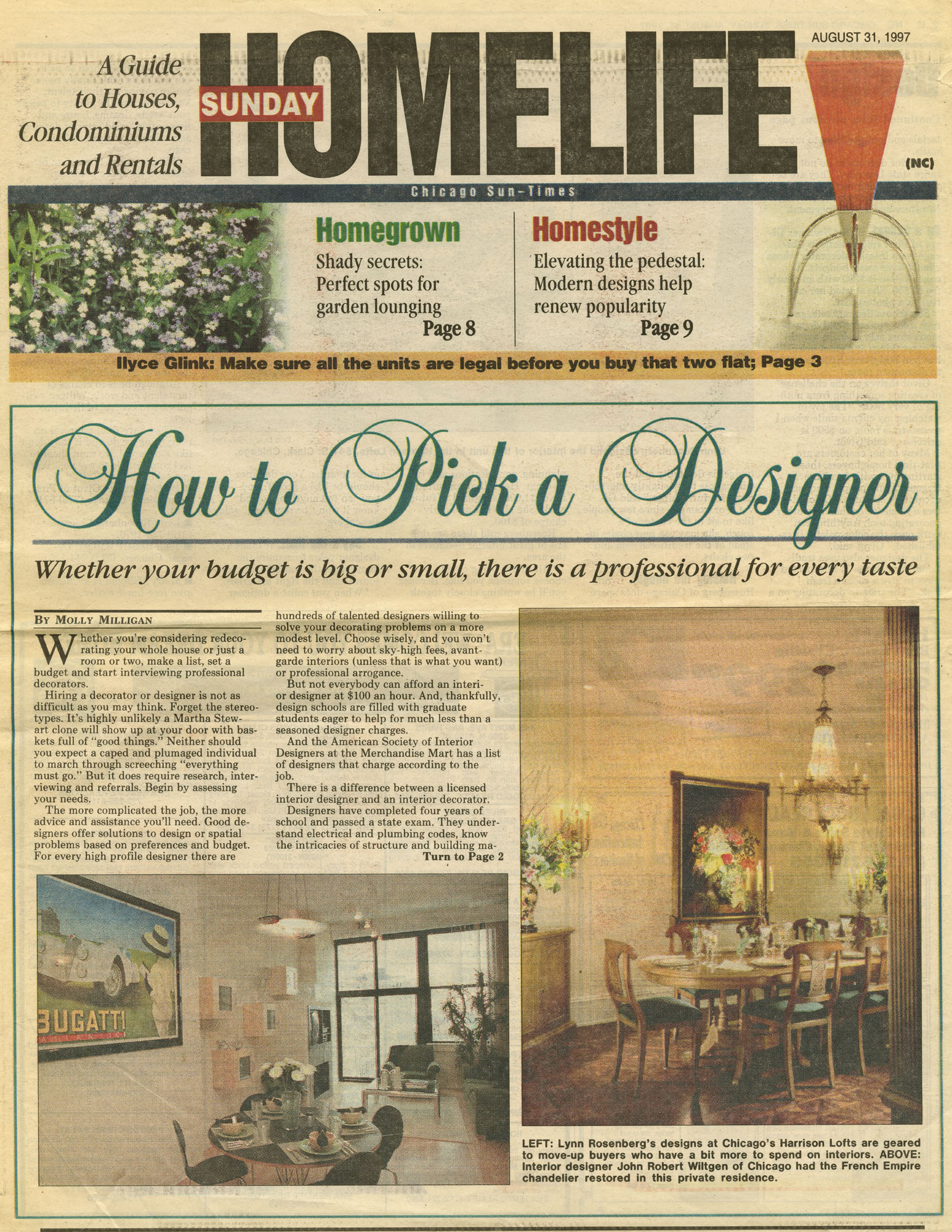 aug31,1997 homelife- How to Pick a Designer