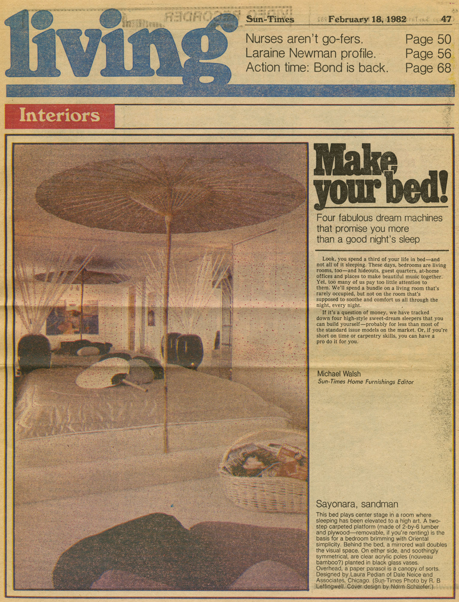 feb18,1982 Sun-times- Make Your Bed!