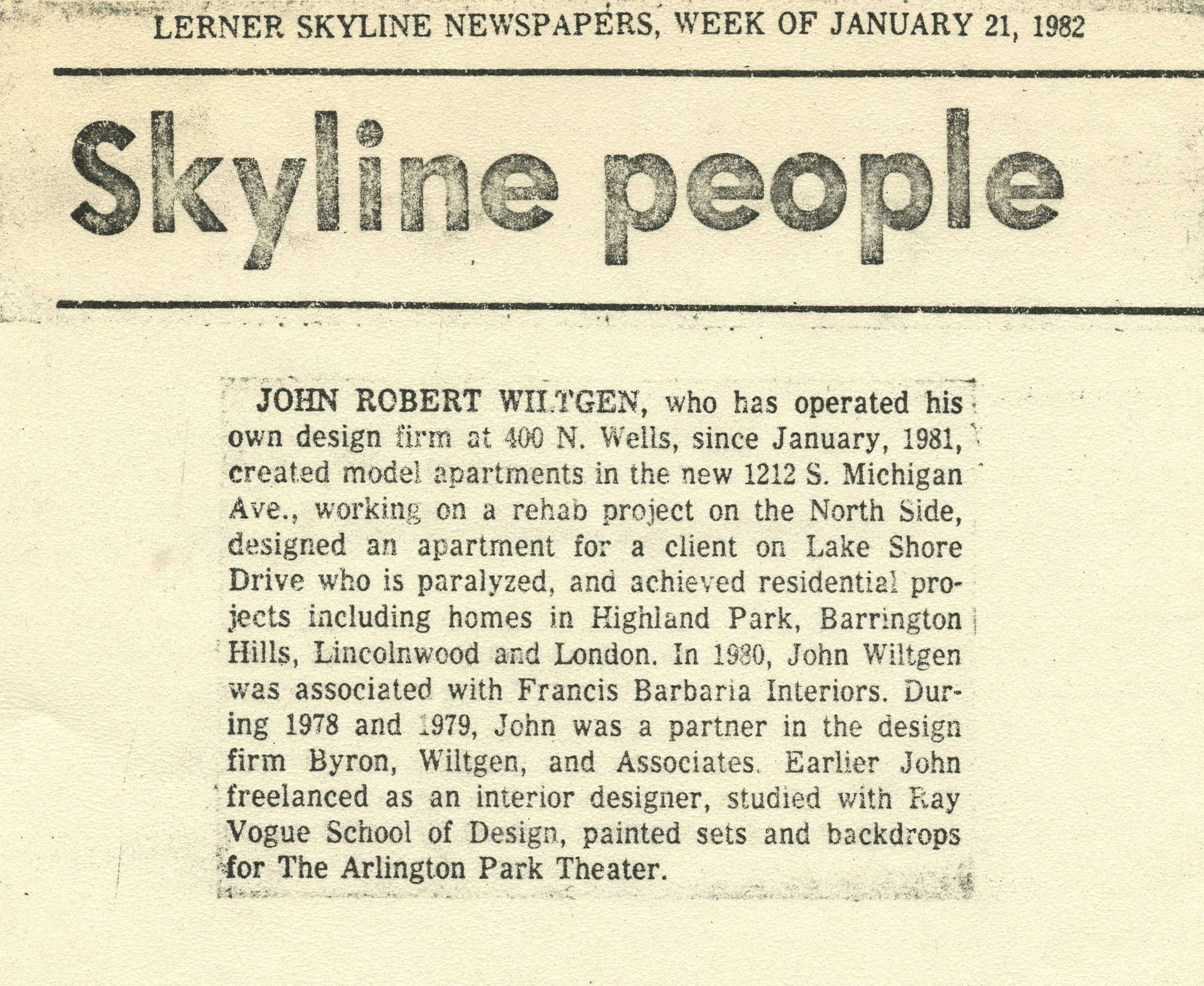 jan21,1982 Lerner skyline newspapers- Skyline People