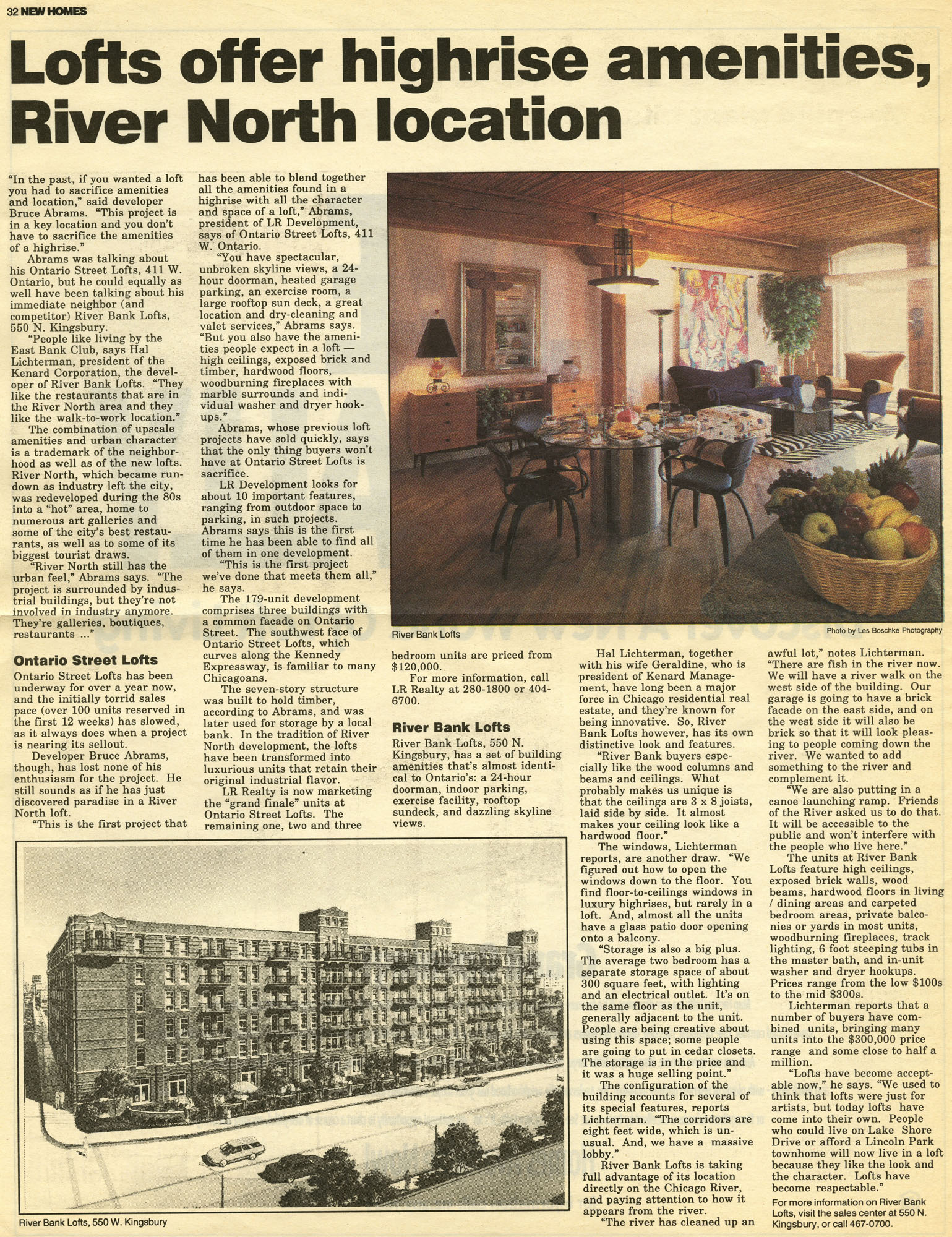 spring95, new homes- Lofts offer highrise amenities, River North location