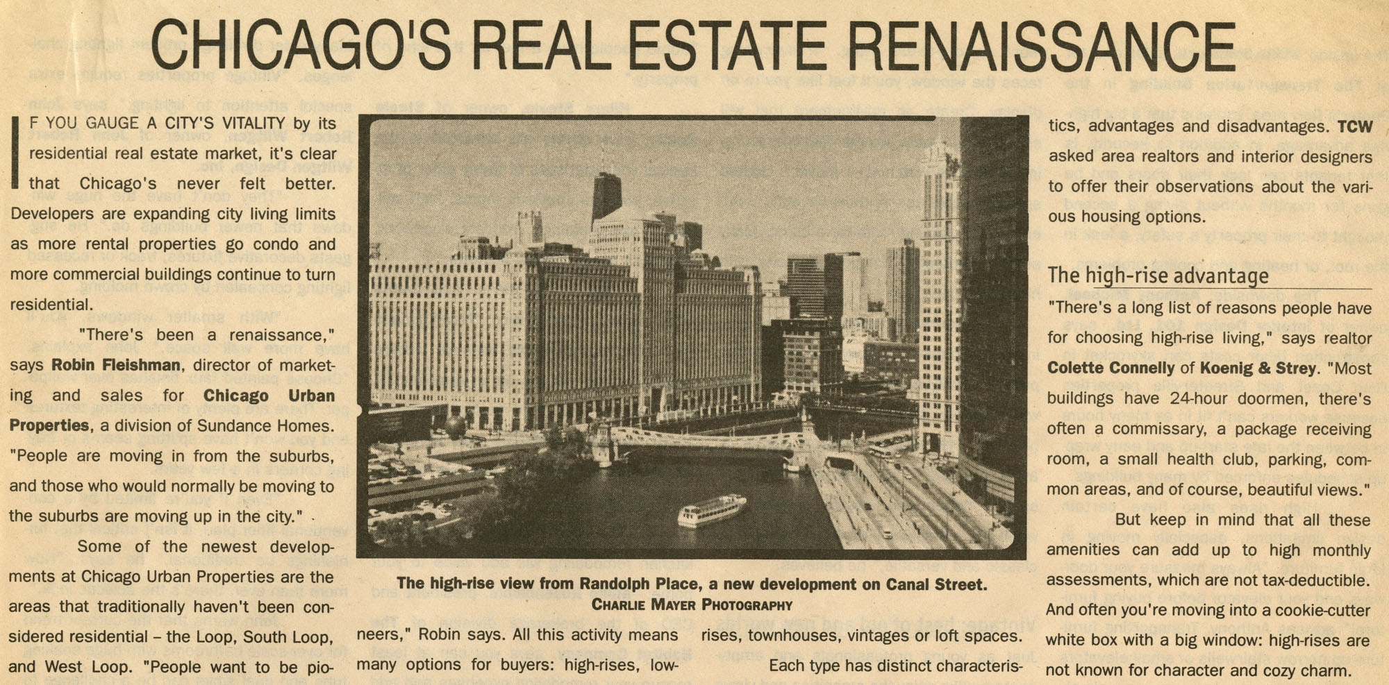 Today's Chicago Woman 08-09 Chicago's Real Estate Renaissance