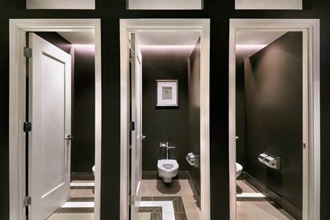 Bathroom facilities at Aire in Chicago at Hyatt Centric