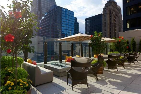 Beautiful views at Aire over the new Hyatt Centric