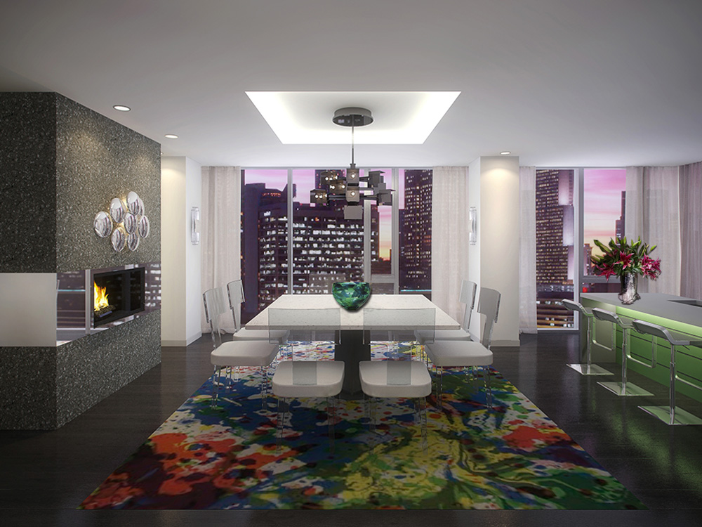 Chicago Luxury - 4 EAST ELM- LAYOUT 1 DINING ROOM - HI-RES