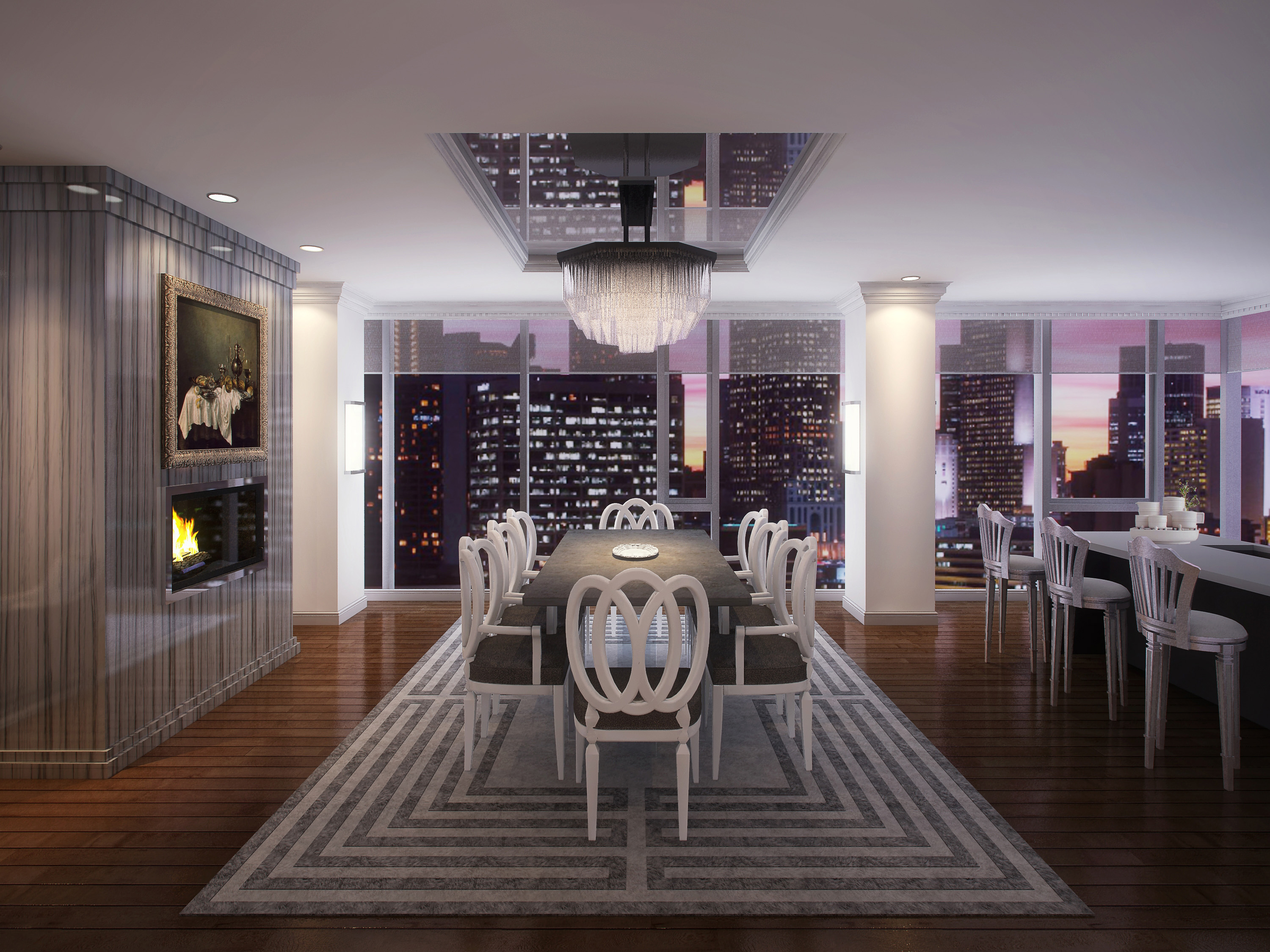 Chicago Luxury - 4 EAST ELM- LAYOUT 2 DINING ROOM - HI-RES