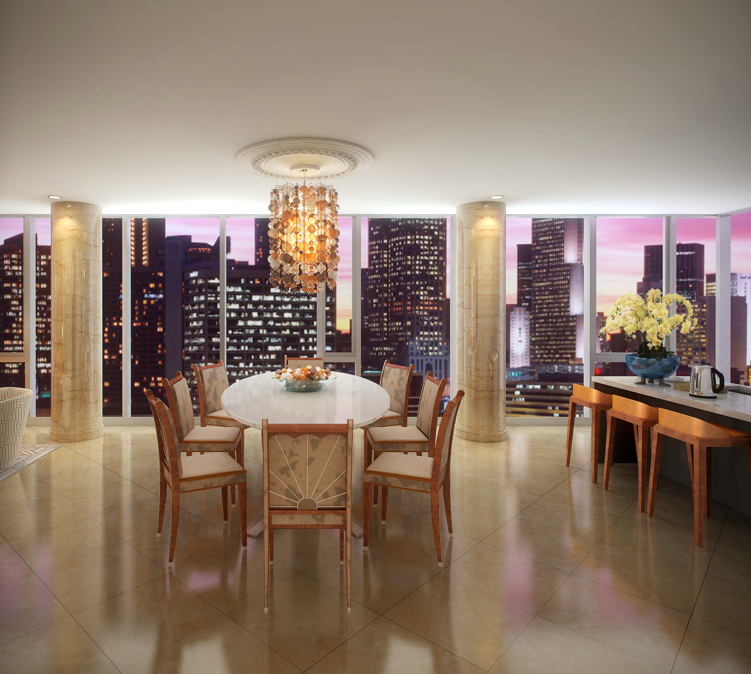 Chicago Luxury - 4 EAST ELM - LAYOUT 3 DINING ROOM - HI-RES